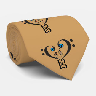 Clef Note Musical Tie-Bass Treble Clef G-C-F Note Neck Tie