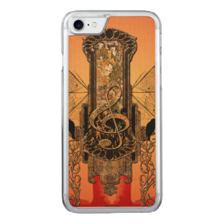 Clef on a decorative button carved iPhone 7 case