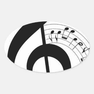 Clef Oval Sticker