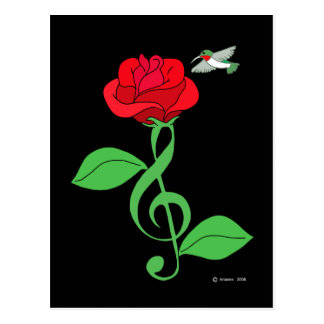 Clef subió colibrí postal