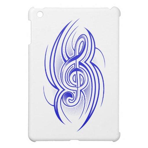 clef tribal blue.png de la música