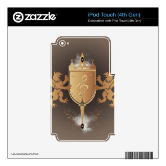 Clef with shield decals for iPod touch 4G