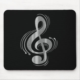 Clef - Wood & Brushed Chrome Mouse Pad
