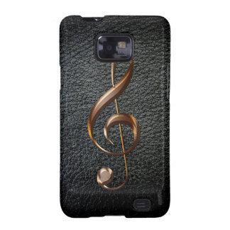 Cleff agudo metálico Samsung del amante de la Samsung Galaxy SII Carcasas