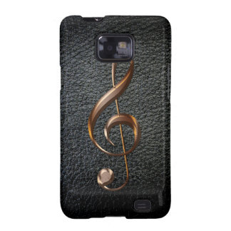 Cleff agudo metálico Samsung del amante de la músi Samsung Galaxy SII Funda