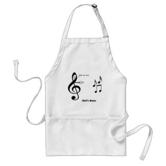 Clef's Notes Adult Apron