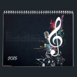 "Cleft Note Calendar<br><div class=""desc"">A calendar filled with abstract images of the cleft note. The cleft note is features on every month with colorful arrangements. Great for any musician,  teacher or anyone who loves music.</div>"