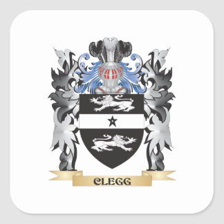 Clegg Coat of Arms - Family Crest Square Sticker