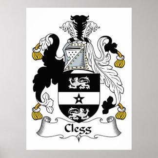 Clegg Family Crest Poster