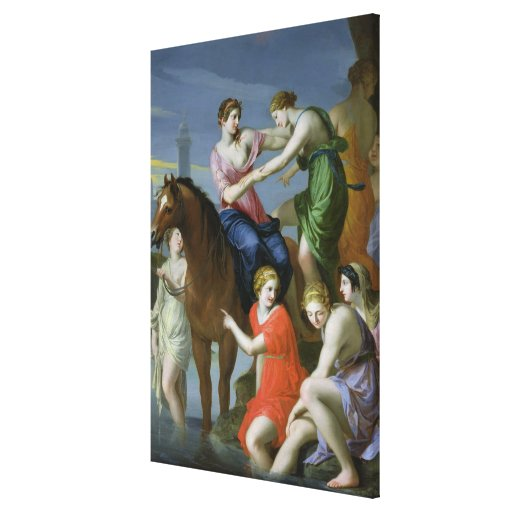 Clelia Crossing the Tiber Stretched Canvas Print