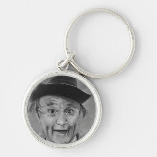 CLEM KADIDDLEHOPPER Silver-Colored ROUND KEYCHAIN