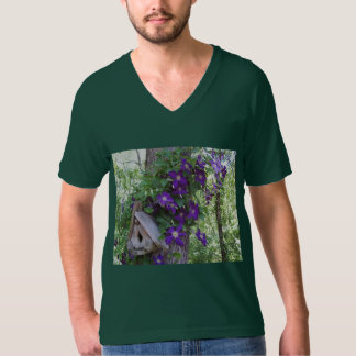 Clematis and birdhouse T-Shirt