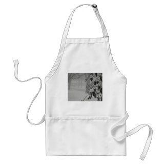 Clematis and Snow fall during a blizzard. Adult Apron