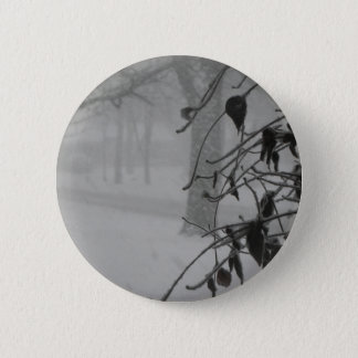 Clematis and Snow fall during a blizzard. Pinback Button