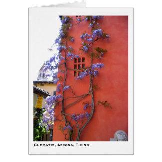 Clematis, Ascona, Ticino Greeting Card