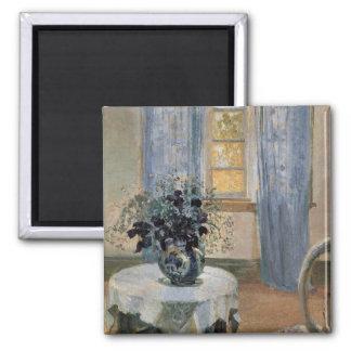 Clematis azul en el estudio del artista Ana Ancher Imán De Frigorífico