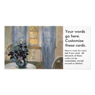 Clematis azul en el estudio del artista Ana Ancher Tarjetas Fotográficas