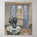 Clematis azul en el estudio del artista, Ana Poster