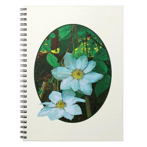 Clematis blanco notebook