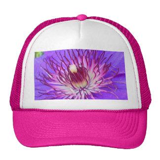 Clematis Bloom Purple Blue Flower Photo Design Trucker Hat