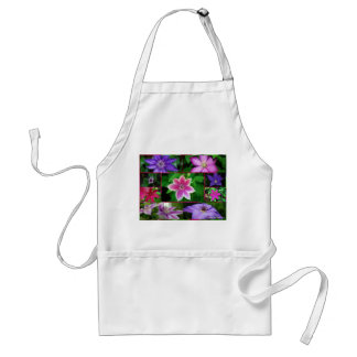 Clematis collage, apron