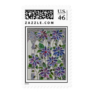 Clematis Collage Postage