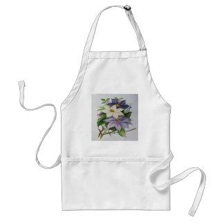 Clematis de la lila (cuadrado) delantal