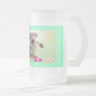 clematis-elve taza de cristal
