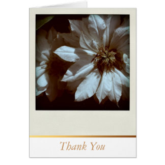 Clematis Floral Photography  Thank You Cards Note Card