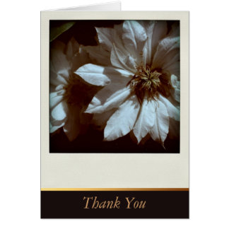Clematis Floral Sympathy Thank You Cards Greeting Card