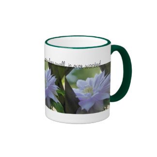 Clematis Flower Inspirational Kindness Quote Mug
