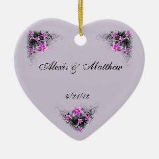Clematis Flower keepsake ornament