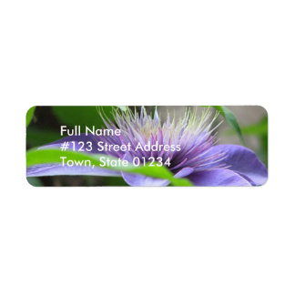 Clematis Flower Mailing Label