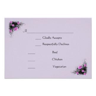 Clematis Flower rsvp card Invite