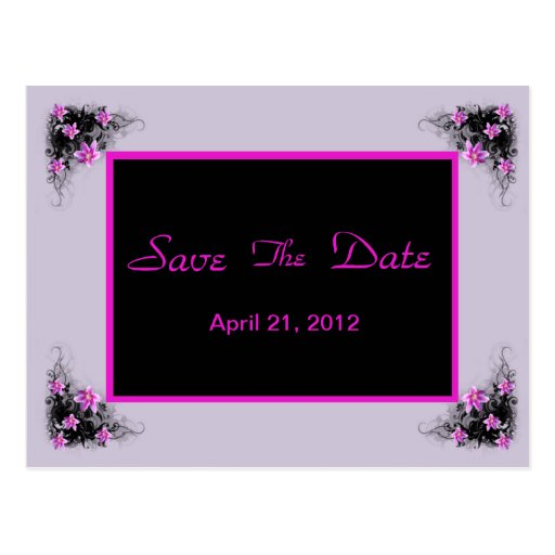 Clematis Flower save the date postcard