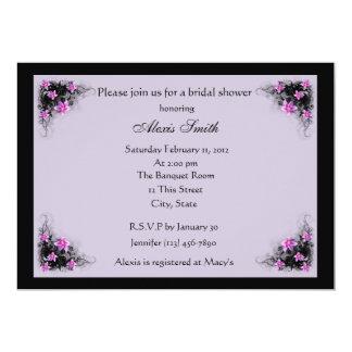 Clematis flowers bridal shower invitation