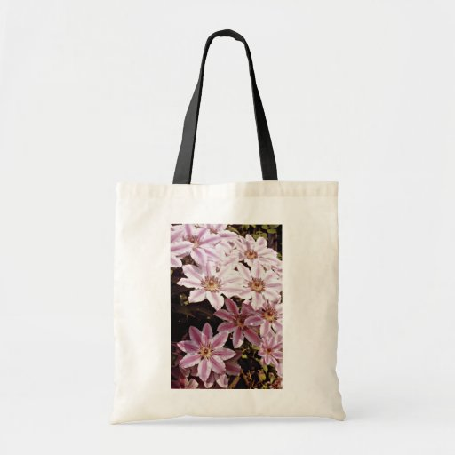 Clematis  flowers canvas bag