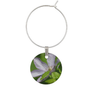 Clematis Flowers Wine Glass Charms