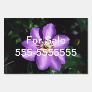 Clematis Hybrid Lawn Sign