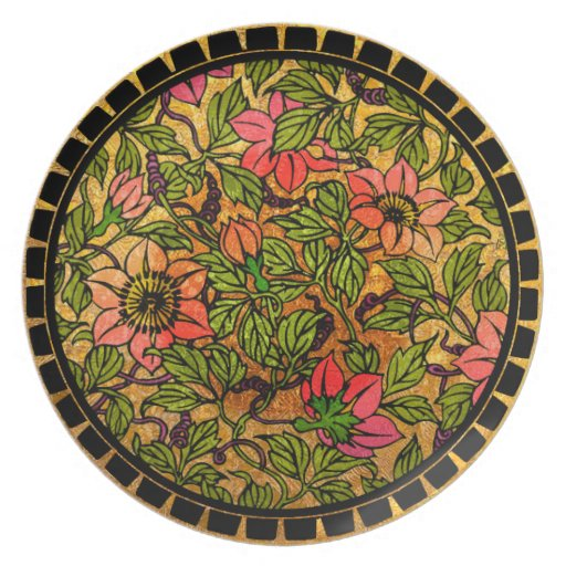 Clematis It Is! (10 inch Round Plate)