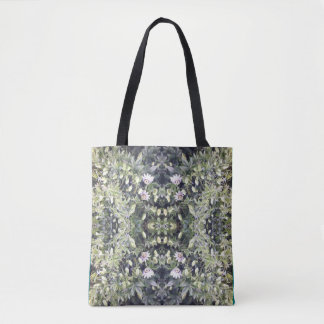 Clematis MirrorC Flower Fractal Tote Bag