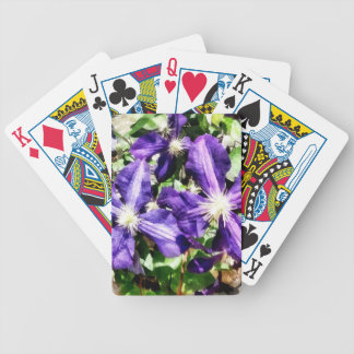 Clematis on a Stone Wall Bicycle Playing Cards
