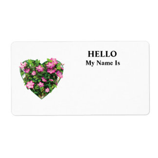 Clematis on a Trellis Custom Shipping Labels