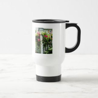 Clematis on Fence Coffee Mugs