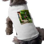 Clematis on Lamp Post Dog Tee Shirt