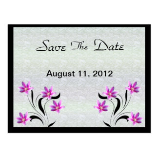 Clematis on Stoney Path save the date postcard