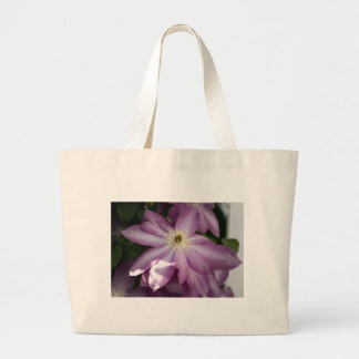 Clematis-painting effect tote bag
