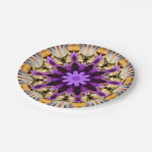 CLEMATIS PAPER PLATE