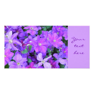 Clematis - photomap photo card
