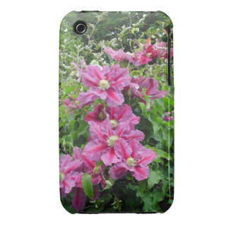 Clematis. Pinky Purple Flowers. Feminine. iPhone 3 Case-Mate Case